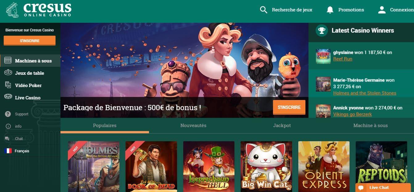 Avis Cresus : faut-il choisir Cresus pour jouer au casino en ligne ?