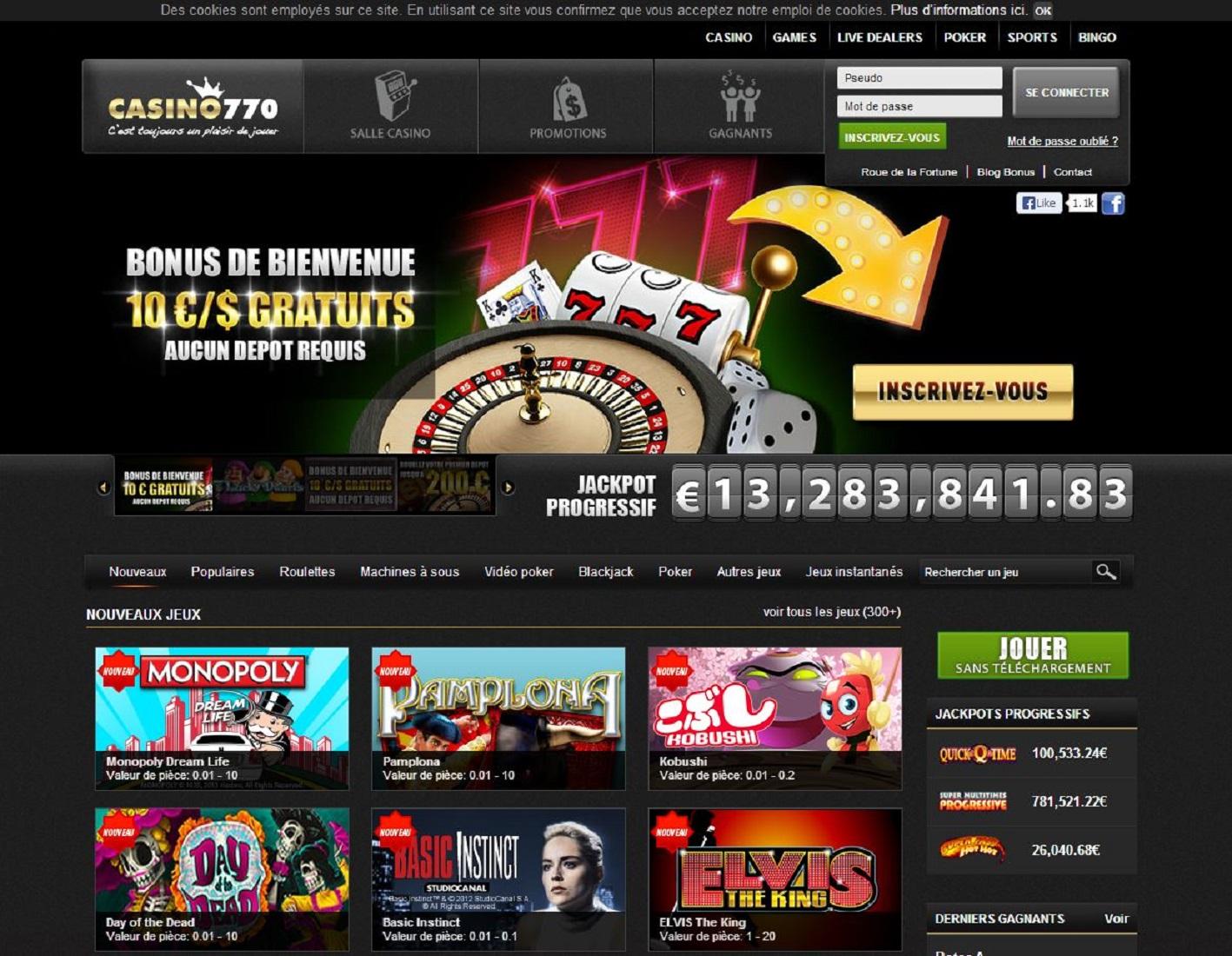 Avis 770 Casino : peut-on faire confiance à ce casino ?